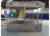 New Cages for Sale - 2 Dog cage with storage above and below in Stainless steel to fit a Renault Trafic/Vauxhall Vivaro up to year 2014